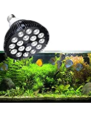 KINGBO LED Aquarium Light Nano, 18W LED Aquarium Lighting Bulb with 6-Band Full Spectrum Par 38 E27 for Fish Tank Coral Reef Saltwater Tank Plants Growth