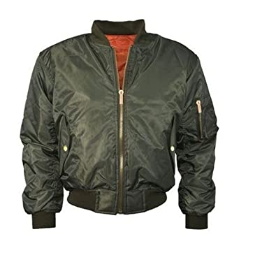 dd1558b7b Ladies Classic harrington MA1 Padded Bomber Jacket Pilot Vintage Zip Up  Biker Coat Stylish XS SML XL