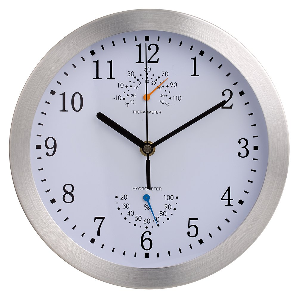 Best rated in weather monitoring clocks helpful customer reviews decorative wall clock skynature silent quartz non ticking quartz metal frame indoor decor wall amipublicfo Choice Image