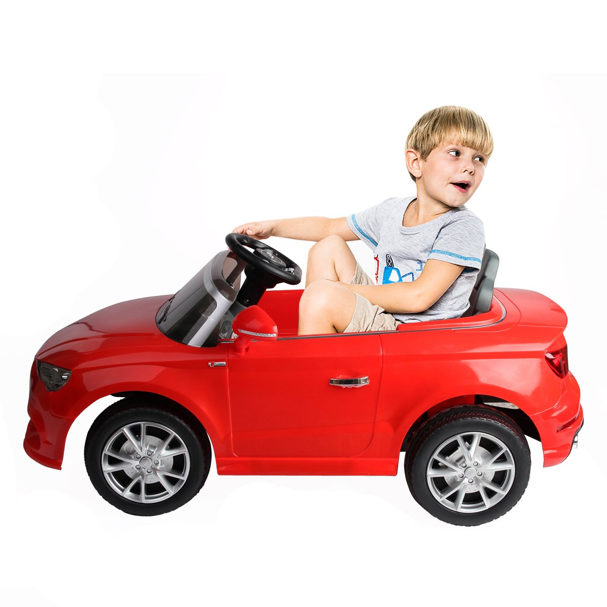 Costzon Licensed Audi A3 Kids Ride On Car 12V Battery Powered RC Ride-On Toy Vehicle W/LED Light