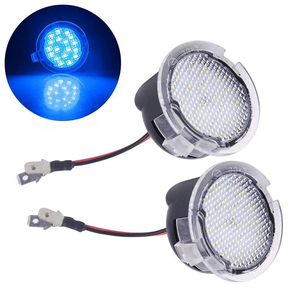 2pcs Fit for Ford Rearview Mirror Puddle Lights 2W 18 LED White Under Side Rear Tow Mirror Puddle Lights for Edge Fusion Flex Explorer Expedition Mondeo Taurus F-150 Raptor Heritage Pick-up