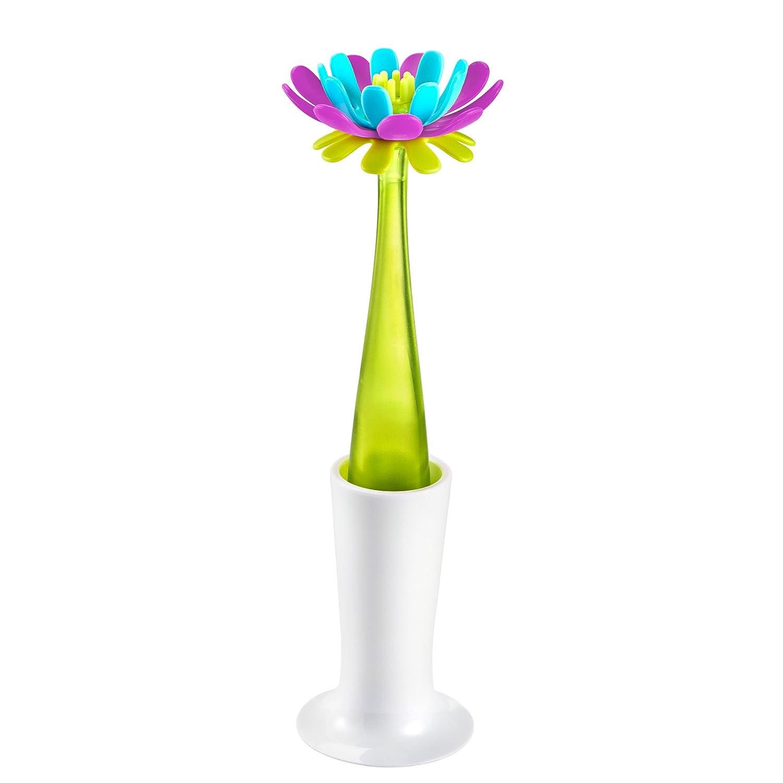 Accesorio para lavar biberones con dise/ño flor secado color azul y purpura Boon 30691116