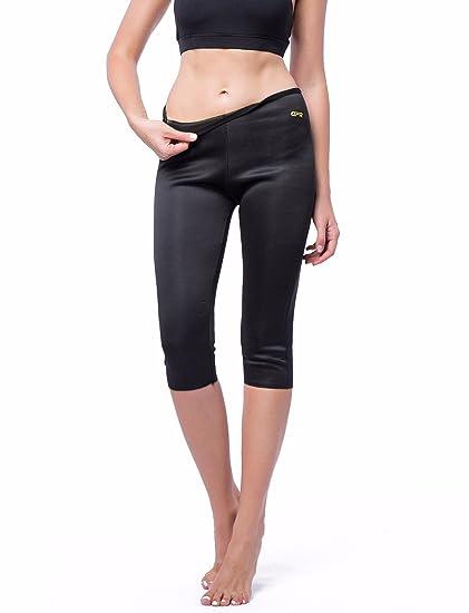 b8ee04d10593b CFR Women s Slimming Thermo Pants Hot Neoprene Sweat Capris Sauna Suit  Weight Waist Control Yoga Fitness