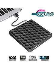 Grabadora CD DVD Externo Portátil Lector USB 3.0, Unidad Óptica Externa de CD/DVD