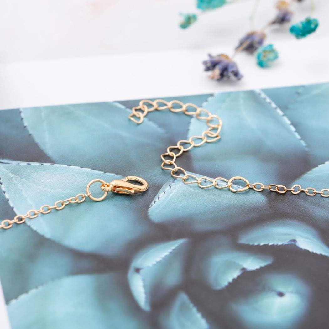 Jovono Turquoise Collier Ras Du Cou /À La Mode Collier Cha/îne Bijoux Pour Femmes Et Filles Or