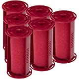"""Caruso Professional Medium Molecular Replacement Steam Hair Rollers with Shields, 6-Pack, 1-1/4"""" Inches"""