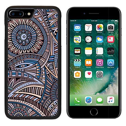 (Luxlady Apple iPhone 8 Plus Case Aluminum Backplate Bumper Snap iphone8 Plus Cases Image ID: 37677576 Abstract Vintage Deco Vector Tribal Ethnic Background)