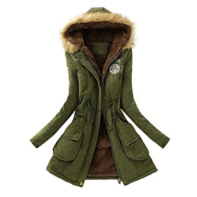 FNKDOR New Womens Ladies Quilted Winter Long Coat Puffer Fur Collar Hooded Jacket  Parka Coat( fa0120f1a8