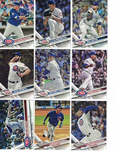 Chicago Cubs / Complete 2017 Topps Series 1 & 2 Baseball Team Set. 2016 World Series Champs
