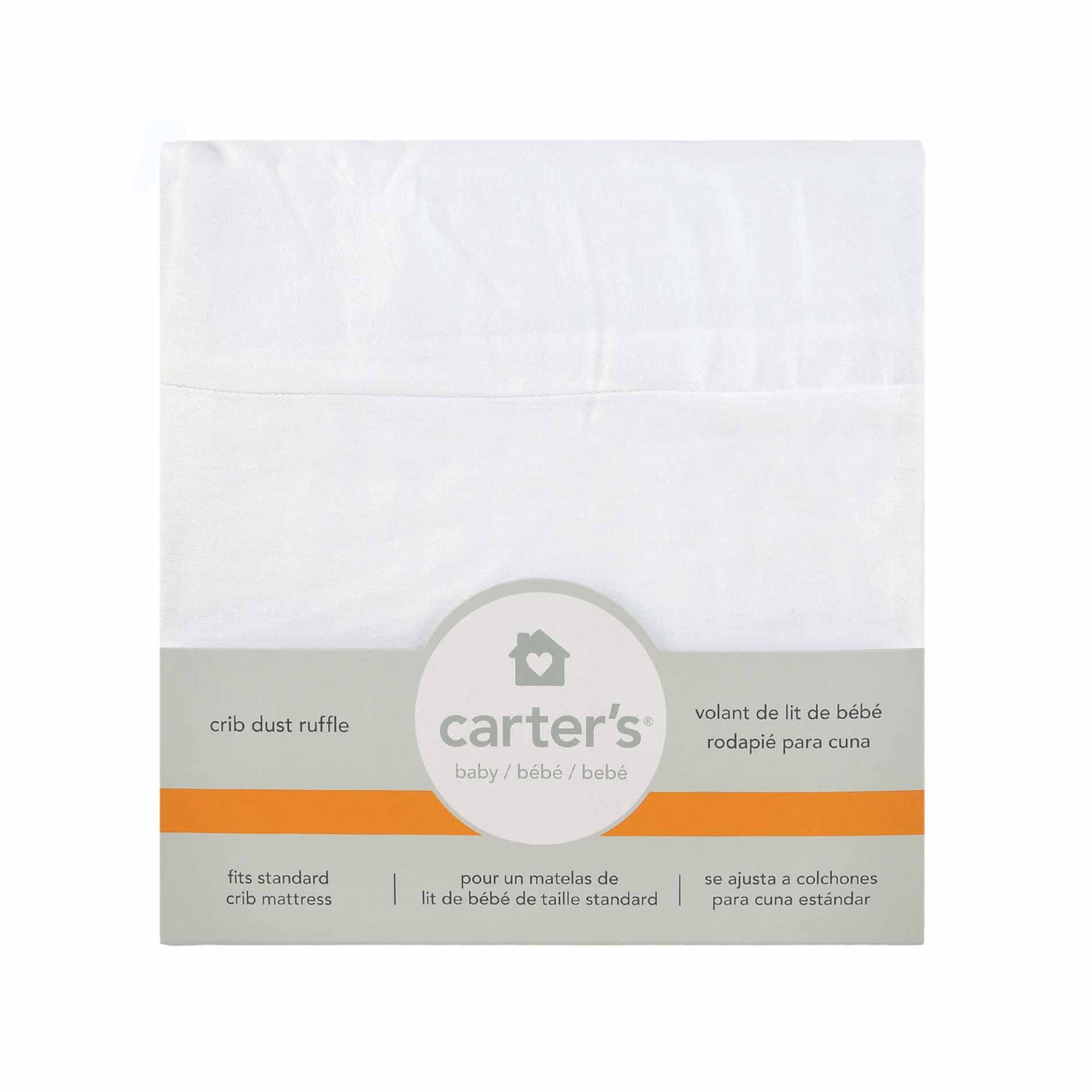 Carter's Solid Dust Ruffle, White