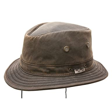 15061ebf545 Jonathan Water Resistant Boater Hat Brown Small. Roll over image to zoom  in. Conner Hats