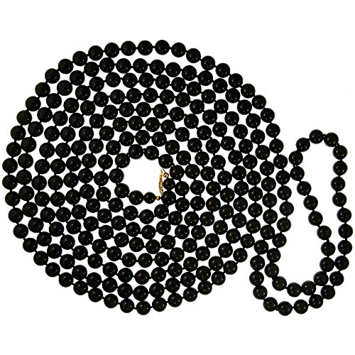 GIRLPROPS 10mm Hand Knotted Elegant Glass Imitation Pearls, 120