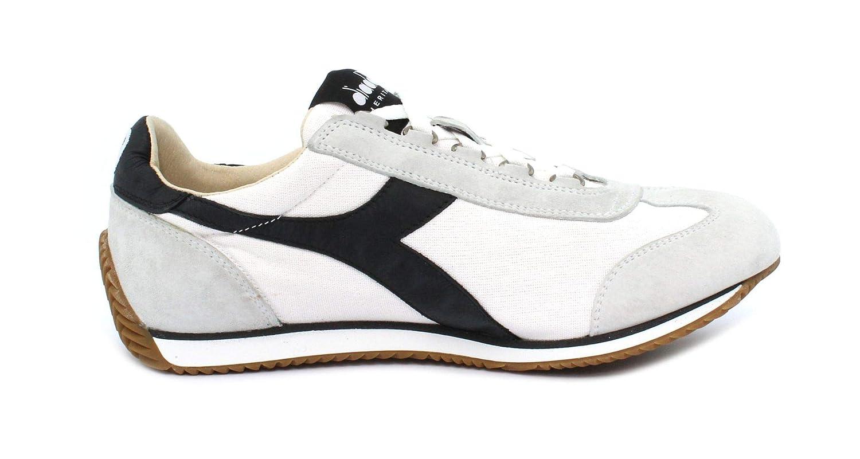 Acquista Diadora Sneaker Equipe H Canvas Stone Wash White/Black miglior prezzo offerta