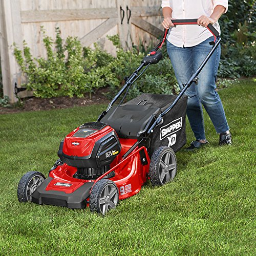 """Snapper XD SXD19PWM82K 82V Electric Cordless 19"""" Lawnmower Kit with (2) 2.0 Battery & (1) Rapid Charger"""