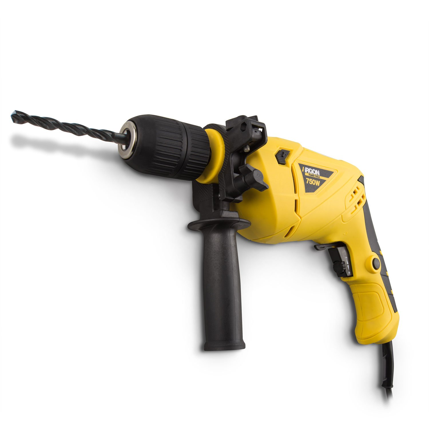 Argon Power Tools Taladro percutor potencia W  RPM color amarillo