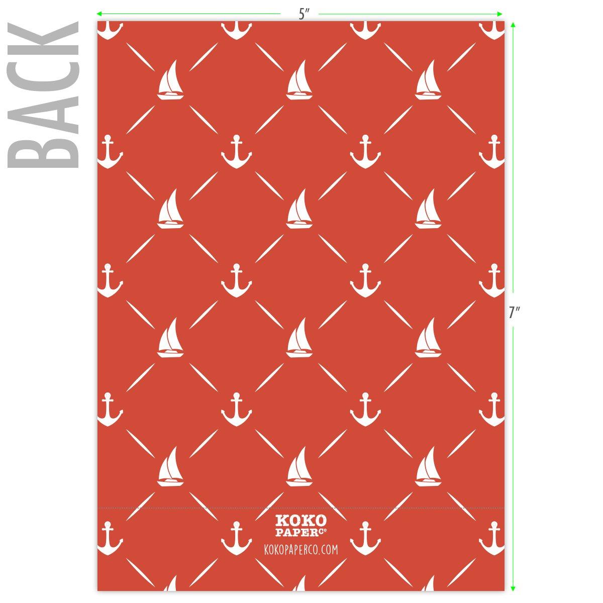 Amazon.com : Koko Paper Co It\'s A Boy Nautical Baby Shower ...