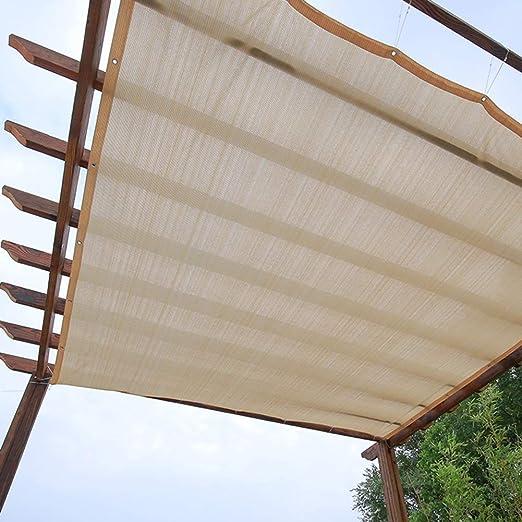 Shade Cloth Home Pérgola Cubierta de toldo para Patio con protección Solar, Color Beige, Rectangular, HDPE, Tela Permeable con Arandelas, 90% Resistente al Sol y a los Rayos UV: Amazon.es: Jardín