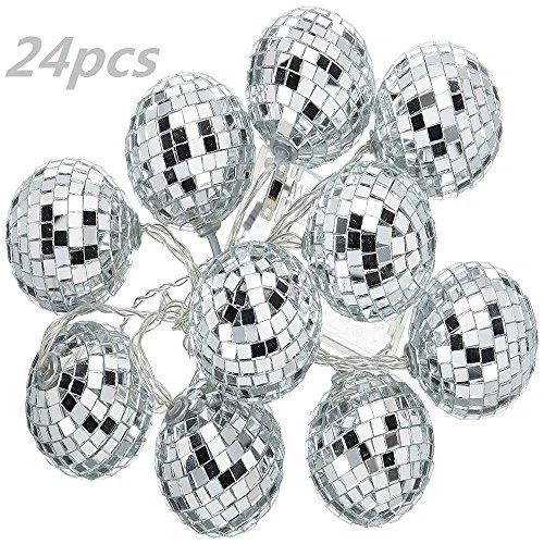 Good done 24 pcs 1.8 Inch Disco Ball Mirror Party Christmas Xmas Tree Ornament Decoration ()