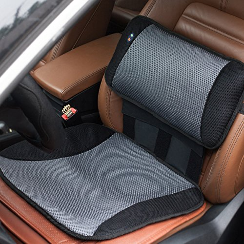 viktor jurgen adjustable vibration massage lumbar pillow back support and car seat cushion. Black Bedroom Furniture Sets. Home Design Ideas
