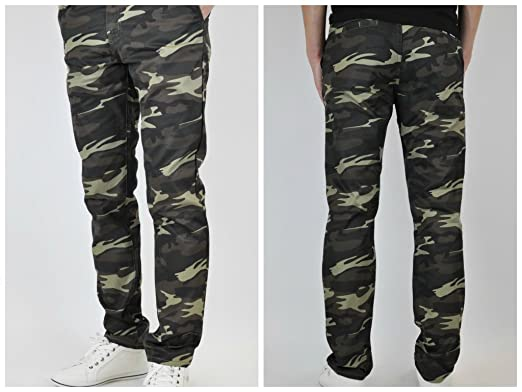 Slim Fit Army Green Chino Pants for Men Straight Leg Made in USA ...