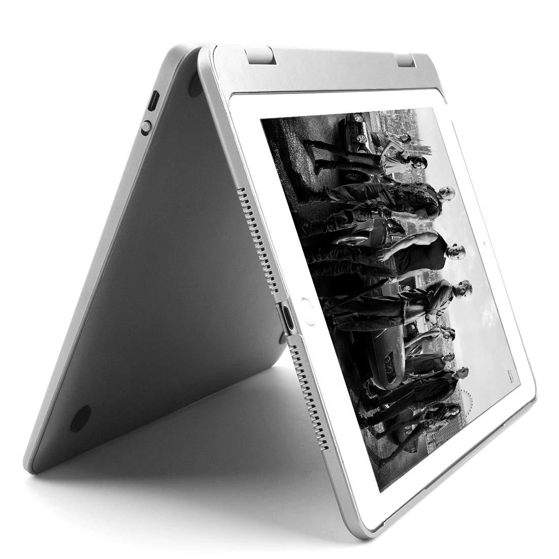 elecfan iPad Keyboard Case 6th Generation 9.7, Colorful Backlit Wireless/BT Keyboard with 180 Degree Flip & Smart Sleep/Wake Stand Cover for 2018/2017 New iPad 9.7 inch/iPad Pro 9.7/iPad Air 2/1, Black