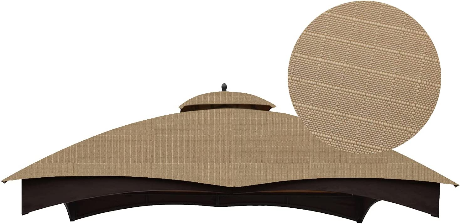 ABCCANOPY Riplock 350 Replacement Canopy, Top Cover for Lowe's Allen Roth 10x12 Gazebo #GF-12S004B-1(Beige)