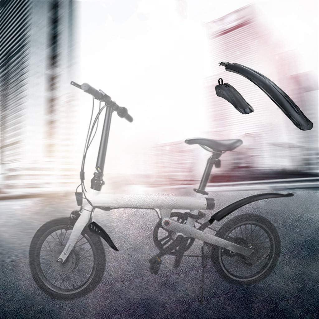 SMILEQ Accesorios de Bicicleta Delantero Trasero Guardabarros para Xiaomi Mijia Qicycle EF1 Bicicleta eléctrica (Negra): Amazon.es: Deportes y aire libre