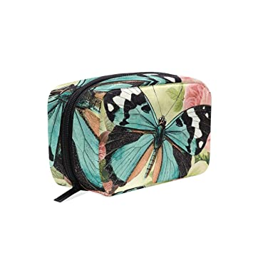 Travel Toiletry Makeup Bag Butterfly Visions-B Digital Cosmetic Bags Women s  Portable Brushes Case Toiletry c462426a7f