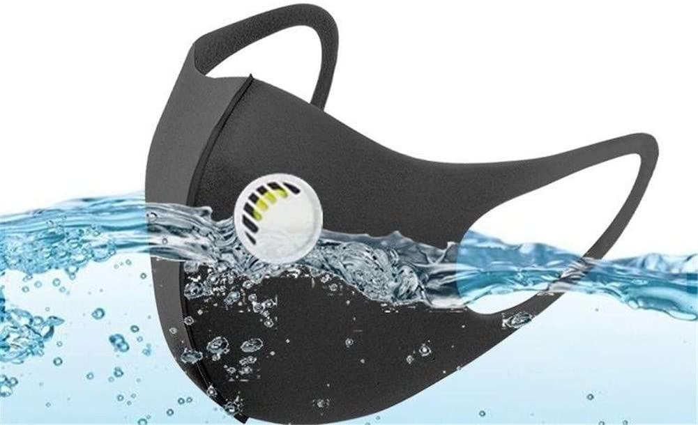 MKDASFD Mascaras Mascarilla de protección Solar a Prueba de Polvo y antiniebla Transpirable con válvula de respiración Negro Lavable para Hombres y Mujeres