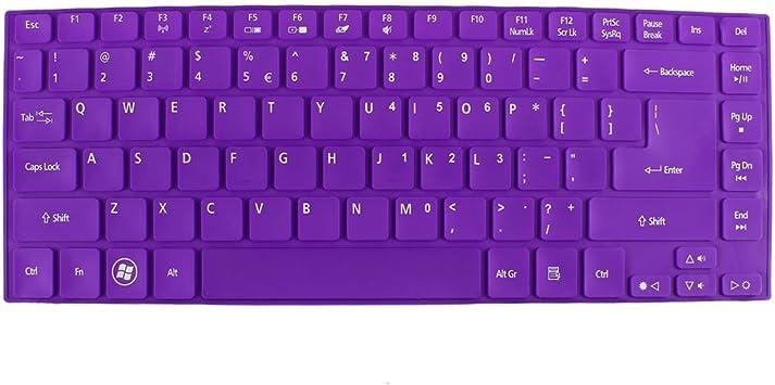 Morada de silicona teclado para ordenador portátil Protector ...