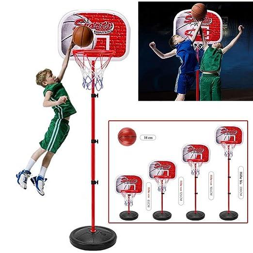 emotree 85 – 200 cm Niños Niño Canasta de baloncesto Soporte ajustable canasta parte Set regalo