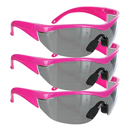 9edd3f0221 Safety Girl Navigator Safety Glasses (1 Pair-Pink Frame-Gray Lense) - -  Amazon.com