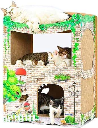 GLMAMK Marco de Escalada de Gato, Almohadillas de raspado para Gatos, cartón Centro de Actividades de Casas de Gato: Amazon.es: Hogar