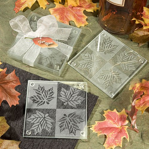 Fall Themed Coaster Favors - 144 count by Fashioncraft