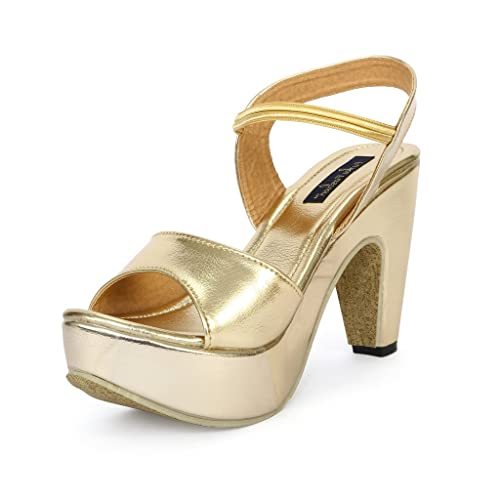 f441744ff3 Funku Fashion Golden High Heels: Buy Online at Low Prices in India ...