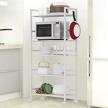 Chen Multifunción ampliado cinco pisos comedor de metal coche hornos de microondas horno rack de almacenamiento