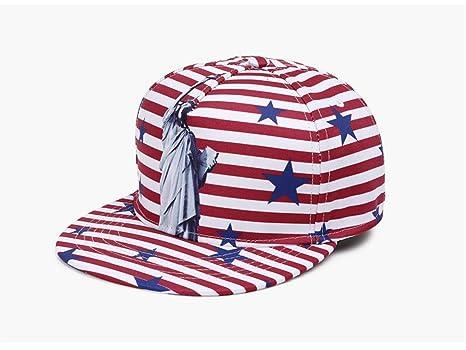 Mens Snapback Hat Adjustable USA American Flag Flat Bill Ball Baseball Cap