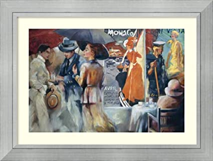 amazon com framed art print cafe bon voyage by maria zielinska