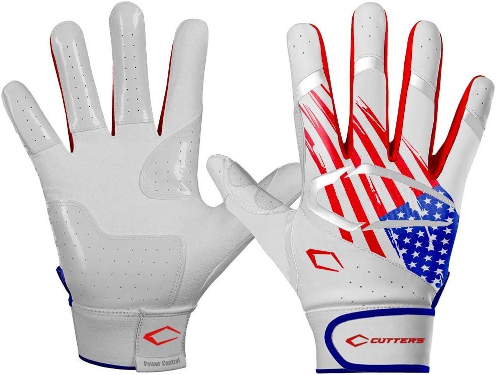Youth /& Adult Baseball /& Softball Cutters Power Control Batting Gloves