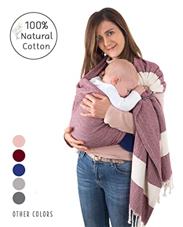 Baby Sling Wrap Soft Stretchy Carrier 100/% Cotton Breastfeedfing Light Backpack