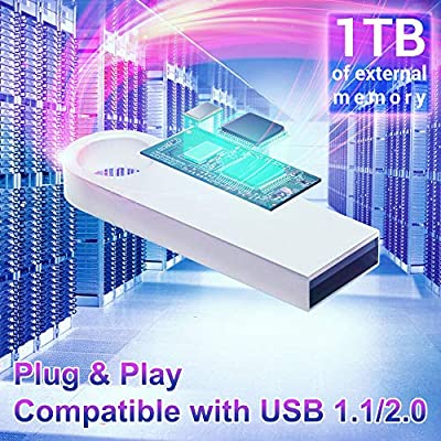 USB Flash Drive (1 TB) High-Speed Data Storage Thumb Stick | Store Movies, Pictures, Documents | PC, Smartphone, Mac Support