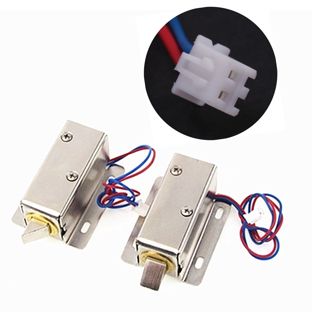 Solenoid Electric Lock, DC 12V Mini Electric Control Lock Tongue Latch Assembly Solenoid for File Cabinet Drawer Door