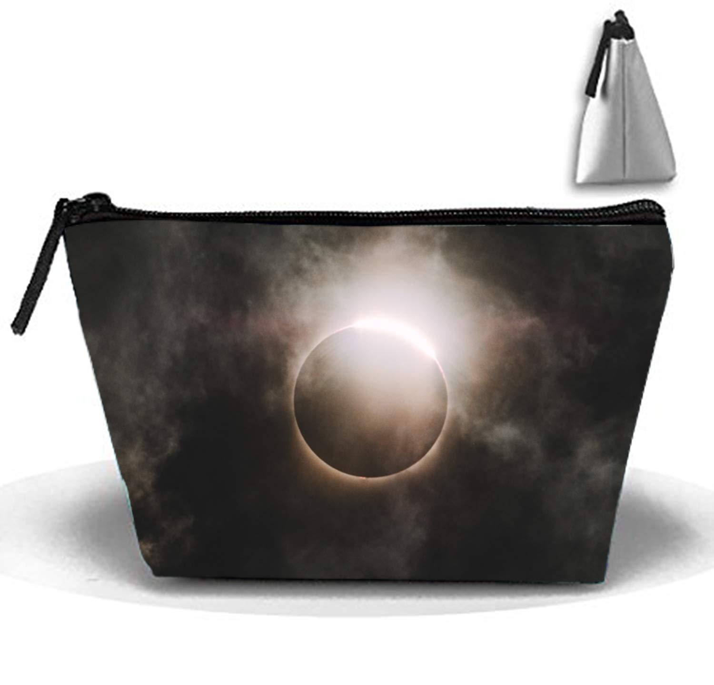 Solar Eclipse Multifunction Portable Pouch Trapezoidal Storage Toiletry Bag