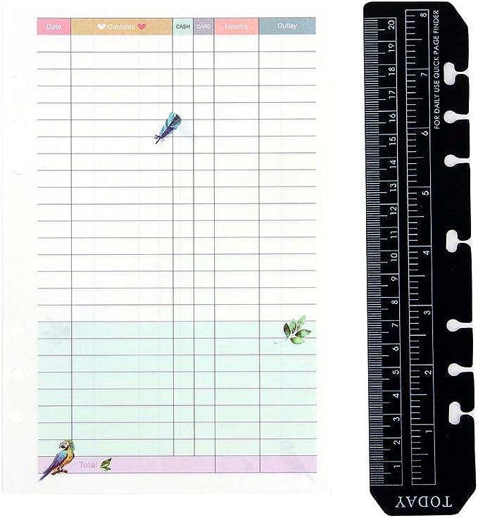 pers/önlicher Geldrechnungs-Tracker Notizbuch Monatlicher Buch-SpesenTracker Budget Planer Organizer Bundle Undatiert Budgetierungs-Organizer Journal mit Federm/äppchen