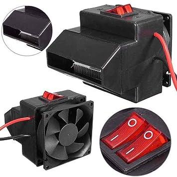 homclo 12 V Calefacción Ventilador Ventilador Auto eléctrica zigarettenanzünder Radiador calefactores bajo consumo calefactor Defroster Demister: Amazon.es: ...