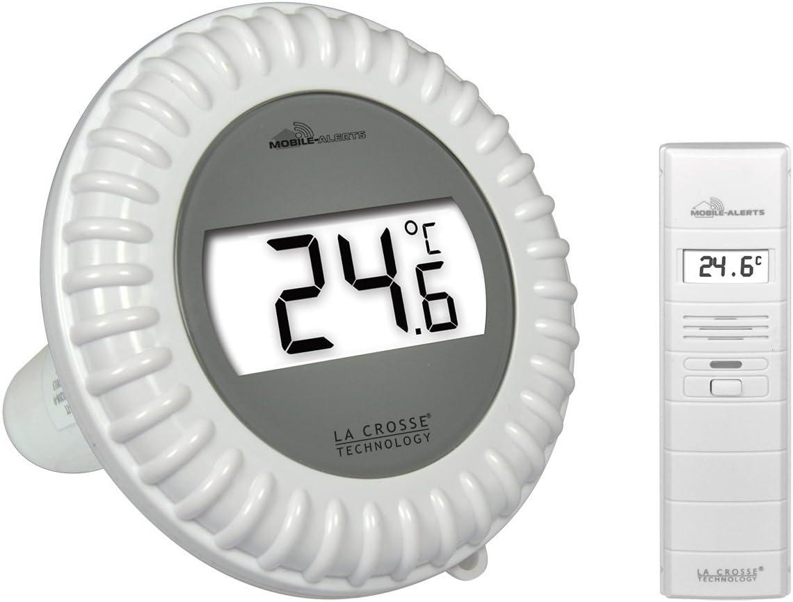 La Crosse Technology - Kit Piscine Connecté MA10700 Mobile Alerts contenant une sonde de température pour piscine et un capteur...