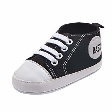 0bb2fd076494c5 Baby Girls Boys Canvas Shoes Soft Sole Infant First Walker Toddler High-Top  Ankle Sneakers