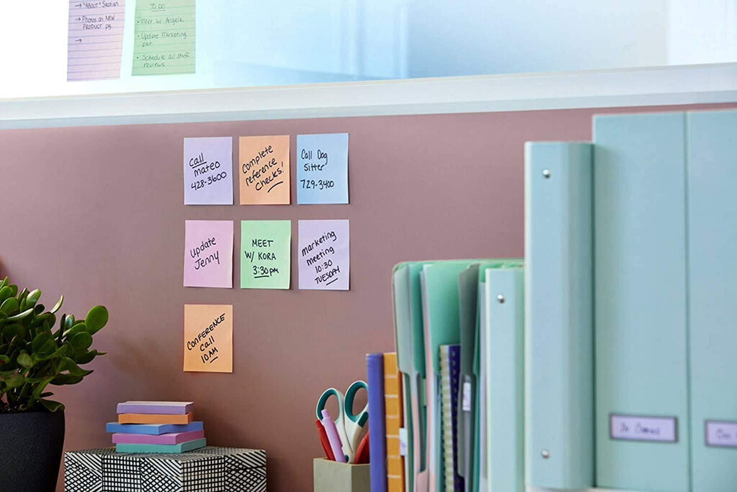 3x3 in Lavender, Apricot, Blue, Pink, Mint Pastel Colors 6 Pads 654-6SSNRP Post-it Super Sticky Recycled Notes Bali Collection 2X The Sticking Power 30/% Recycled Paper - New