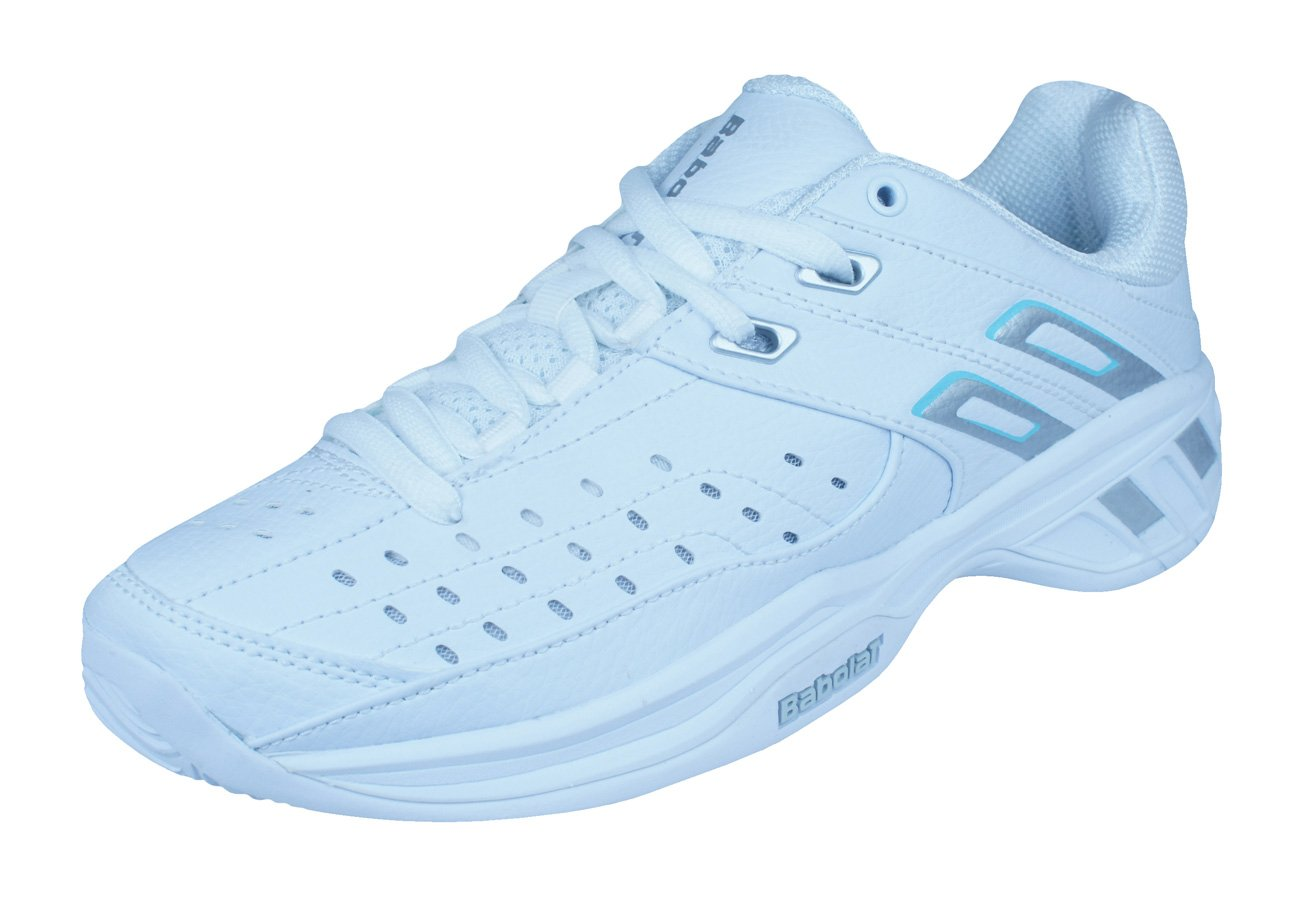 Babolat Double Line Womens Tennis Sneakers/Shoes-White-7