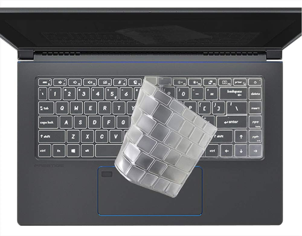 CaseBuy Premium Ultra Thin Keyboard Cover for MSI Prestige 14 A10SC 14 inch Laptop//MSI Prestige 15 A10SC 15.6 Laptop MSI Prestige 14 15 Keyboard Protector Skin TPU